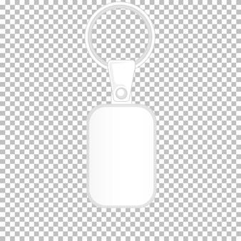 グラフィックのないキーホルダーの製品デザインテンプレート