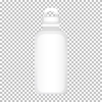 Modello di progettazione del prodotto della bottiglia d'acqua senza grafica