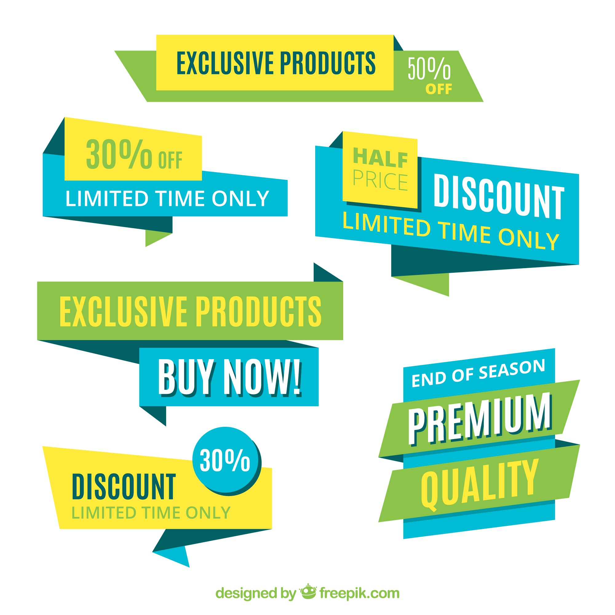 Product discount banners