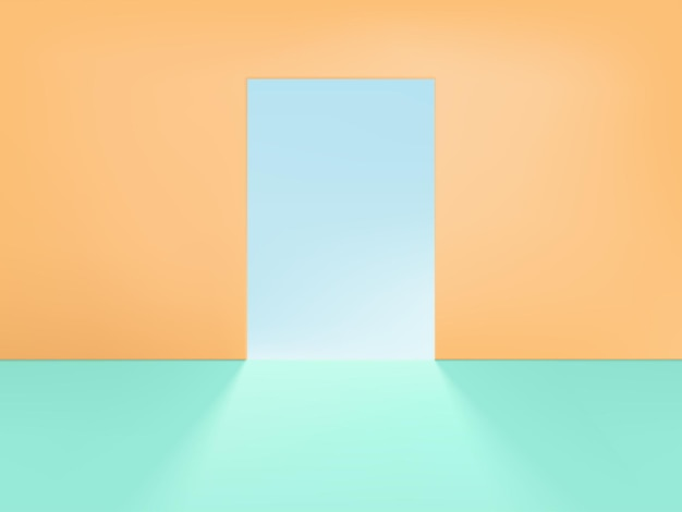 Product display background with pastel wall or corner