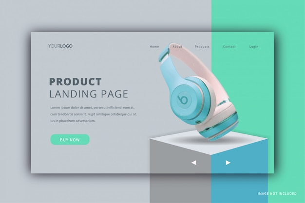 Product display landing page