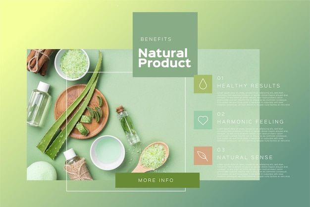 Product infographics template with photo