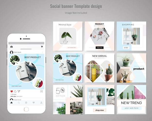 Product minimal social media post template