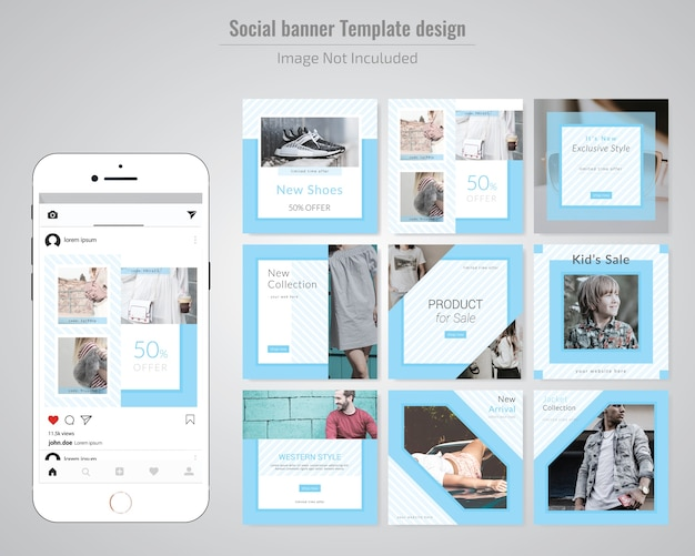 Product offer social media post template