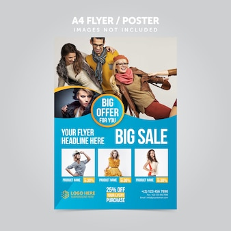 Product promotion mulripurpose a4 flyer leaflet template