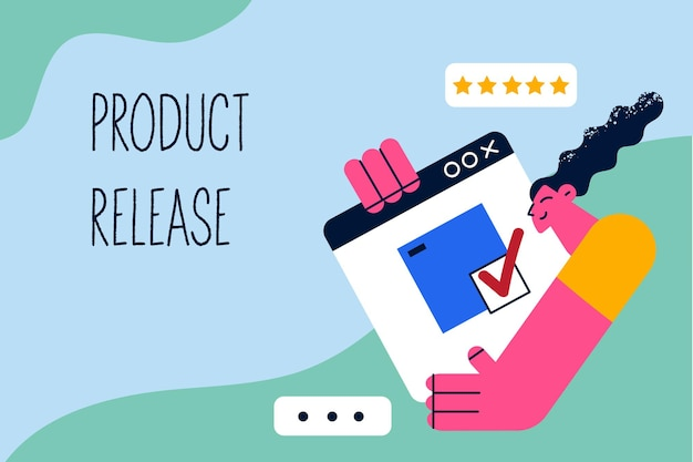 Product release in business concept