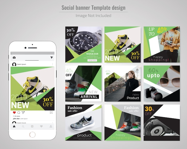Product sale social media banner post template