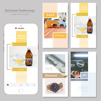 Product sale social media post template