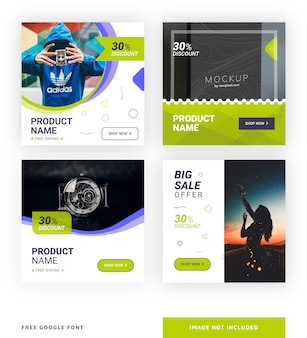 Product - social media post template