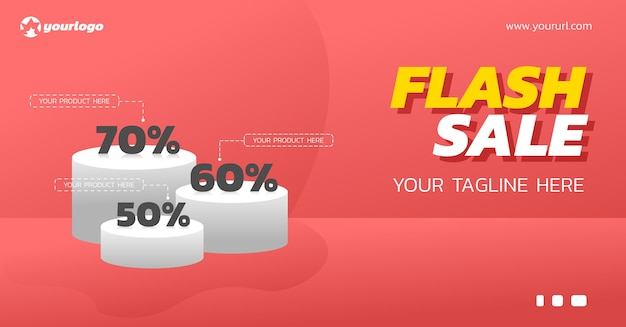 Product stand for flash sale discount