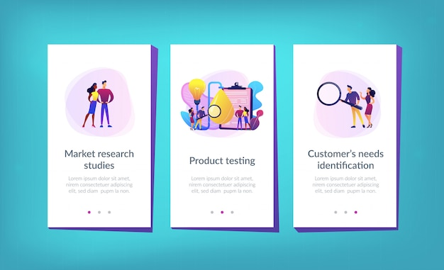 Product testing app interface template