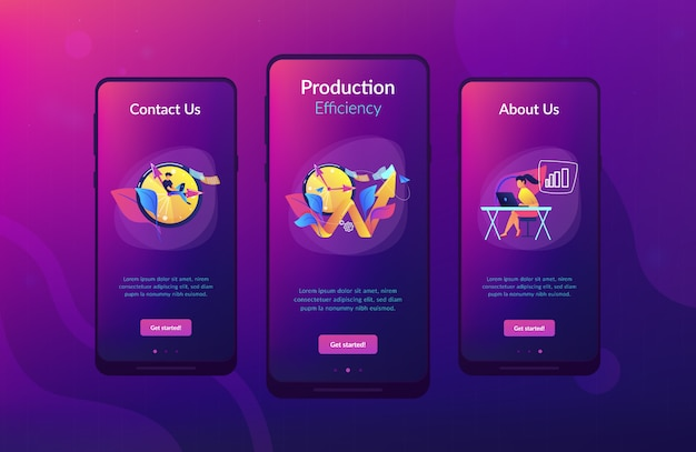 Productivity app interface template