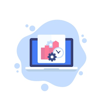 Productivity, business software icon