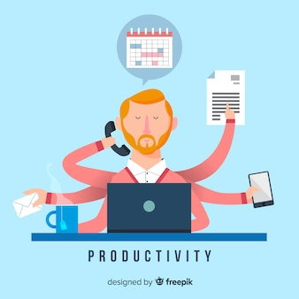 Productivity concept background