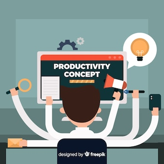 Productivity concept background