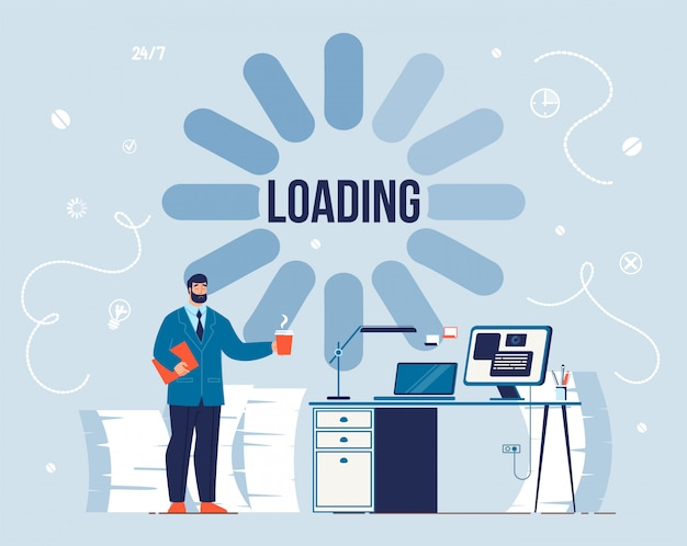 Productivity loading process and take coffee break