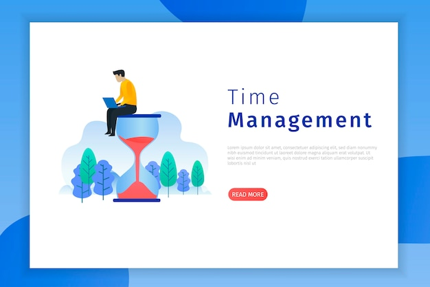 Productivity and time management landing page