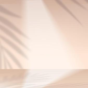 Products display 3d background podium scene with orange shape geometric platform. vector illustration..