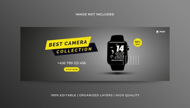Products facebook cover design template