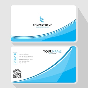 Profesional and modern business card Premium Vector