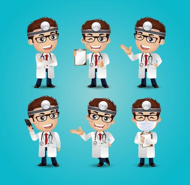 Профессия - врач в разных позах