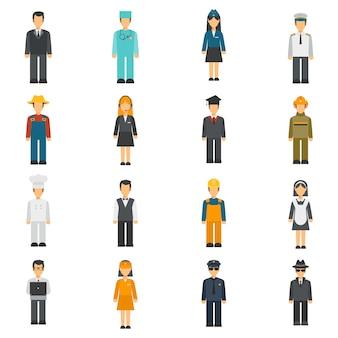 Profession flat avatars set