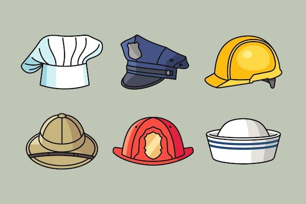 Шляпа профессии с рисованной иллюстрацией