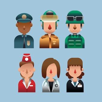 Profession head flat avatar