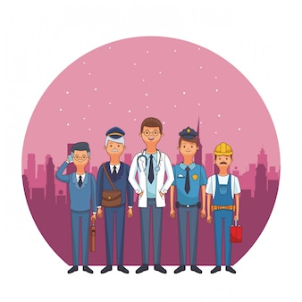 Profession and occupation avatars