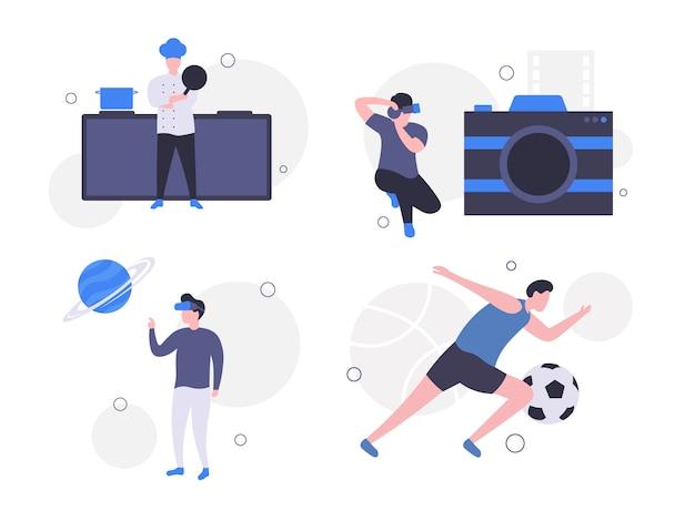 Profession vector illustration set