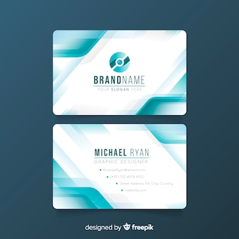 Professional abstract business card template