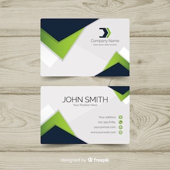 Professional abstract business card