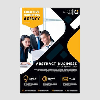 Professional abstract business flyer