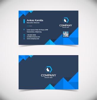 Профессиональный и современный шаблон визитной карточки