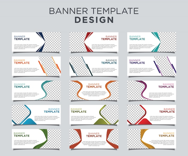 Professional banner template set white background