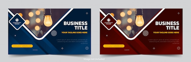 Professional banners design templates