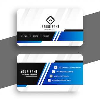 Professional blue business card template design