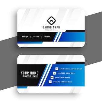 Профессиональный синий дизайн шаблона визитной карточки