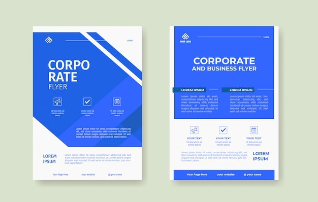 Professional blue flyer poster template