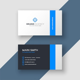 Professional blue minimal style business card template