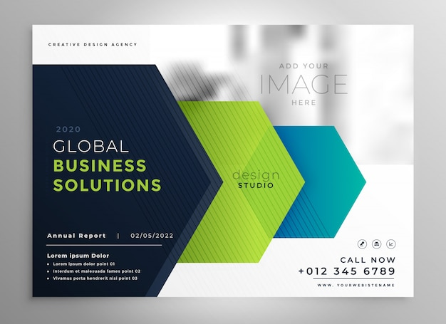Professional brochure template in geometric style