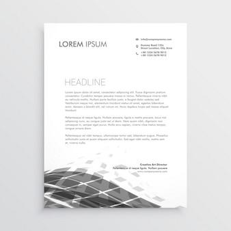 Фирменные бланки дизайн с абстрактными черной волны эффект