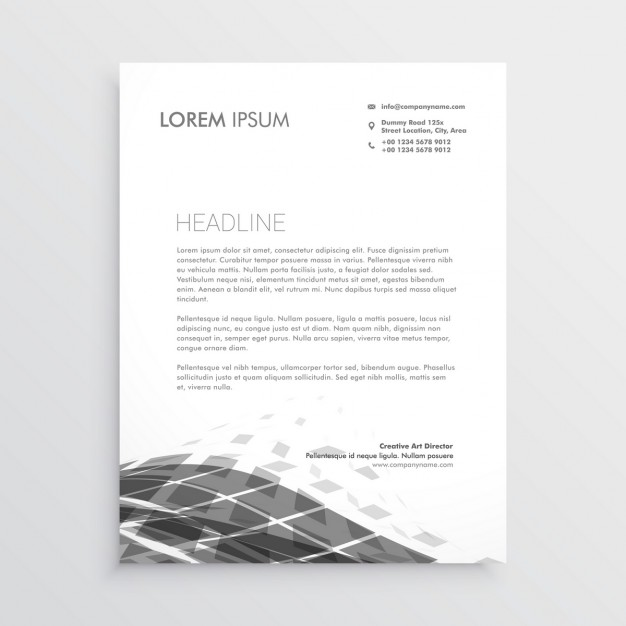 Professional brochure with gray geometric shapes
