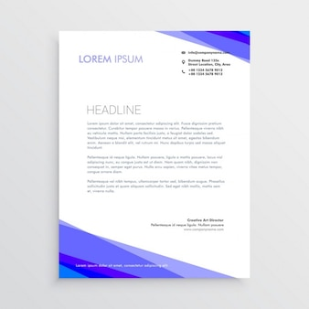 Professional brochure with purple shapes