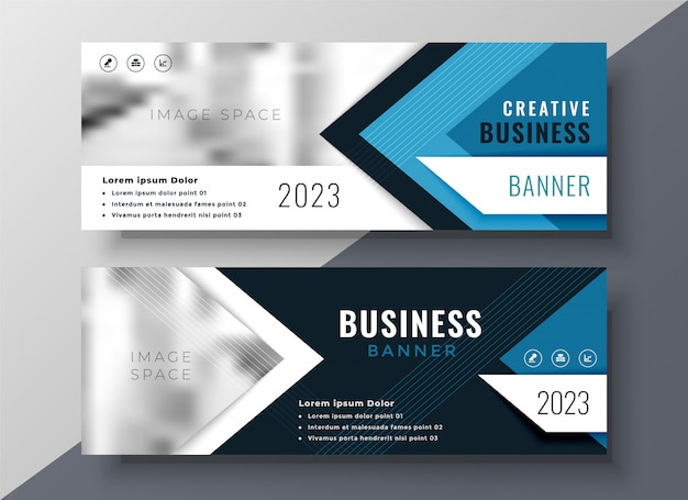 Professional business banner in geometric style