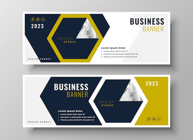 Professional business banner presentation template design