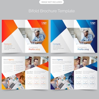 Professional business bifold brochure