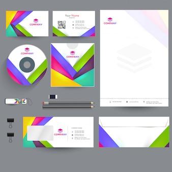 Комплект профессионального бизнес-брэндинга, включая letter head