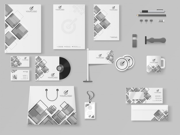 Professional business branding kit including letter head