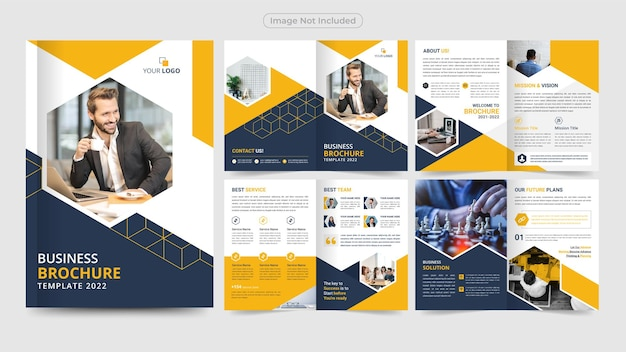 Professional business brochure design template